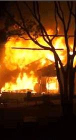 ゴミ屋敷の火災